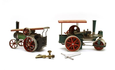 Lot 81 - A Wilesco 'Old Smoky' steam roller