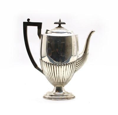 Lot 15 - A Late Victorian silver pedestal coffee pot