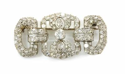 Lot 159 - An Art Deco diamond set plaque brooch, c.1930