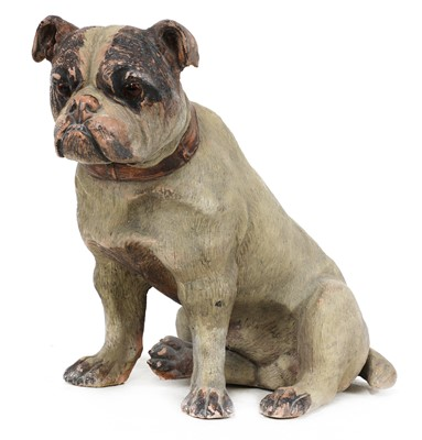 Lot 87 - A terracotta model of a bulldog