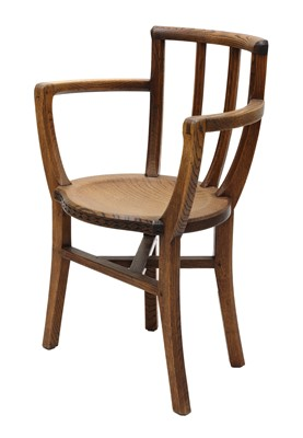 Lot 91 - An Arts and Crafts oak armchair