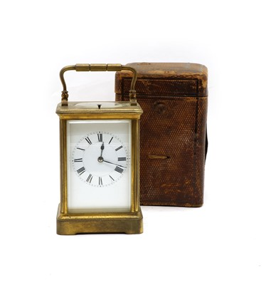 Lot 60 - A late 19th century French carriage clock