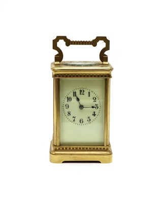Lot 73 - A cased late 19th century striking carriage clock