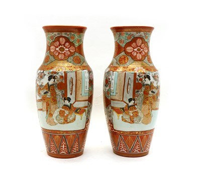 Lot 68 - A pair of 19th century Kutani vases