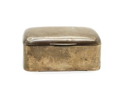 Lot 12 - A silver cigarette box