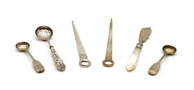 Lot 8 - A Victorian silver bladed butter knife