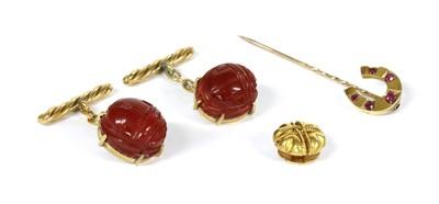 Lot 8 - A small quantity of gentlemen's jewellery