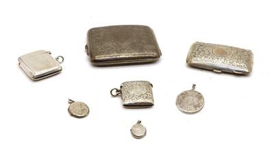 Lot 39 - A George V silver cigarette case