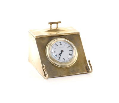 Lot 40 - A George V novelty silver eight-day desk clock