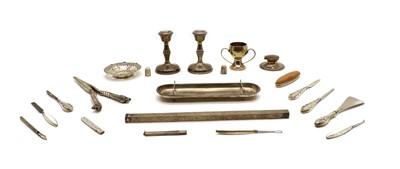 Lot 48 - An Edward VII silver pen tray