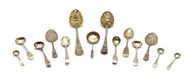 Lot 42 - A George III silver berry spoon