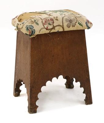 Lot 71 - An oak stool