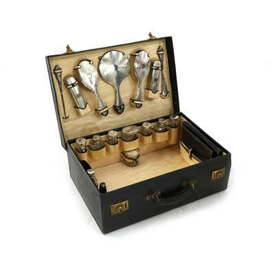 Lot 101 - An early 20th century dressing case by L.A Leins & Sons