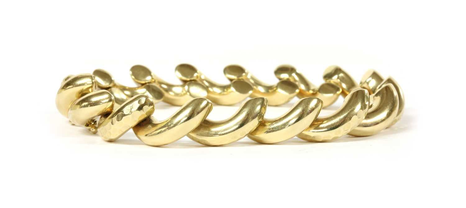 Lot 70 - A 14ct gold San Marco link bracelet