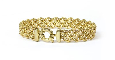 Lot 66 - A 9ct gold fancy Bismark link bracelet