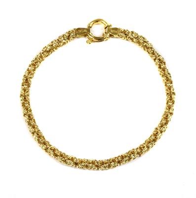Lot 60 - An 18ct gold Byzantine link bracelet