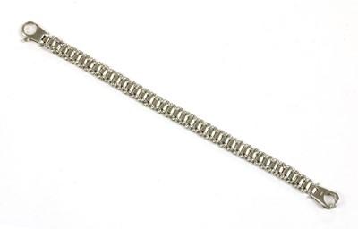 Lot 58 - A 9ct white gold panther link bracelet