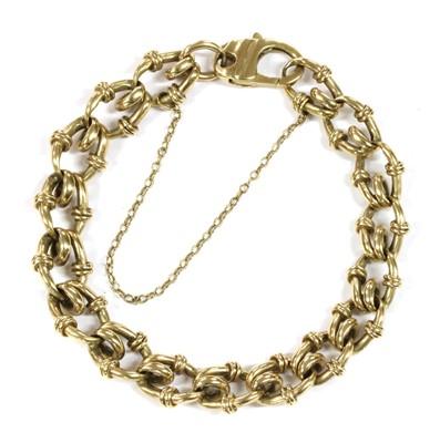 Lot 47 - A gold fancy link bracelet