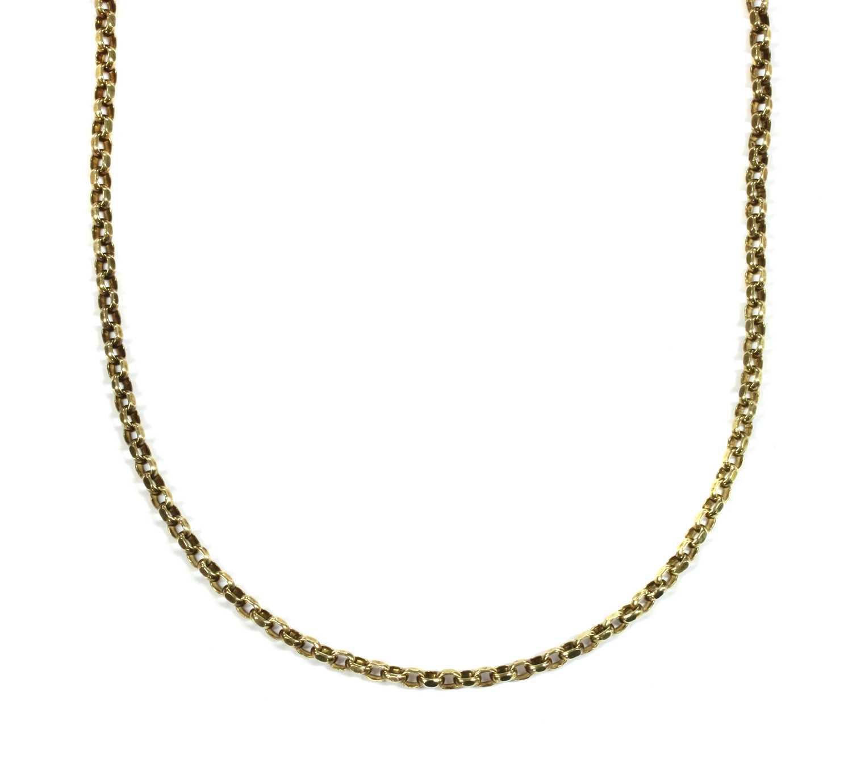 Lot 35 - A 9ct gold belcher chain