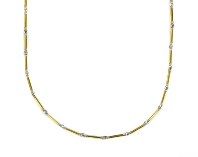 Lot 28 - An 18ct yellow and white gold necklace