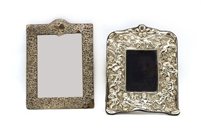 Lot 13 - An Edwardian silver dressing mirror