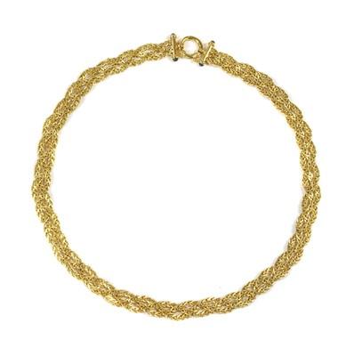 Lot 38 - A 9ct gold sapphire set necklace