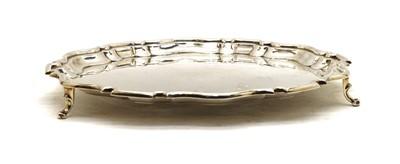Lot 8 - A George V silver salver
