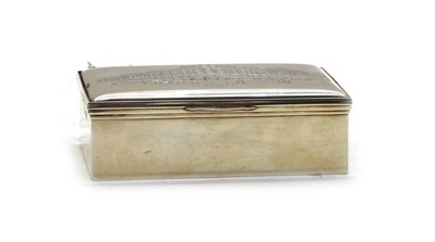 Lot 10 - A 20th century silver 'Harrods' cigarette box
