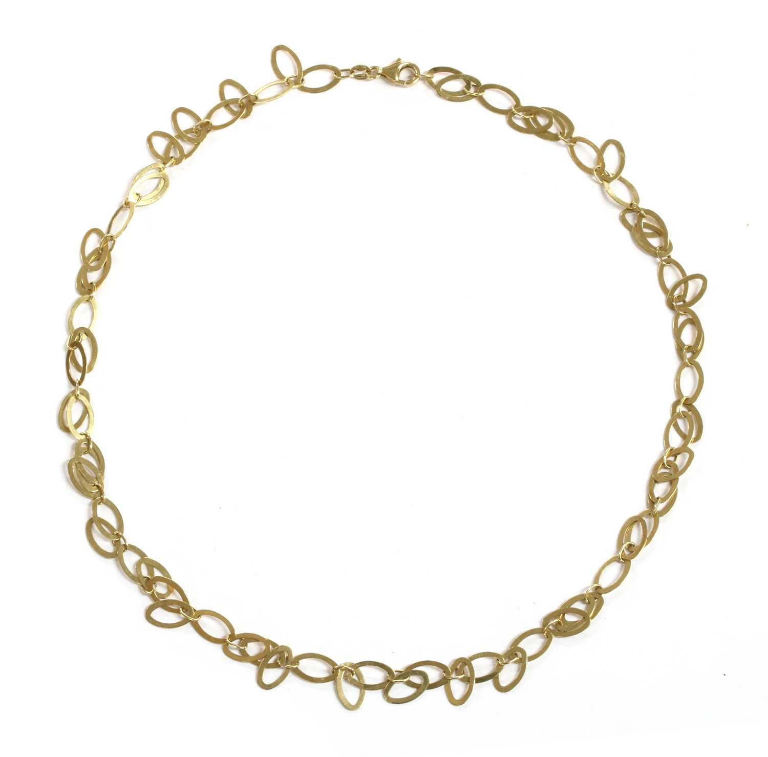 Lot 39 - A 14ct gold fringe necklace