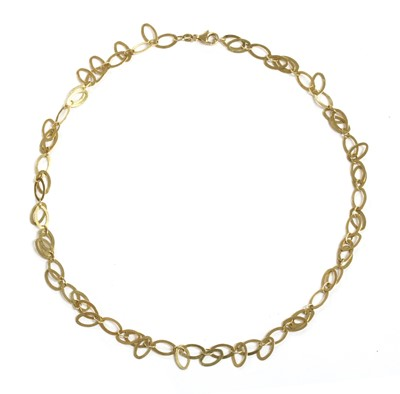Lot 39 - A 14ct gold fringe necklace