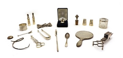 Lot 7 - A collection of silver flatware