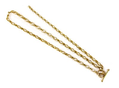 Lot 37 - A 9ct gold lariat-style necklace
