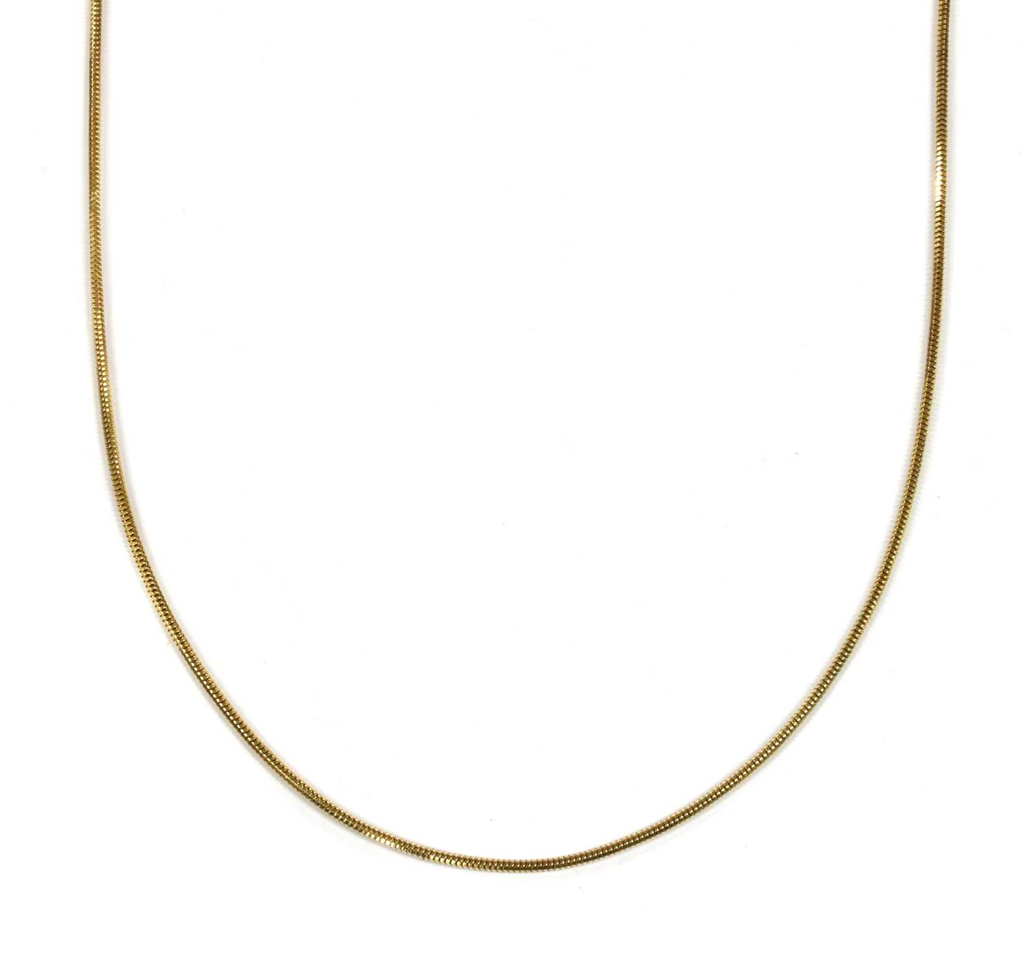 Lot 41 - An 18ct gold snake chain