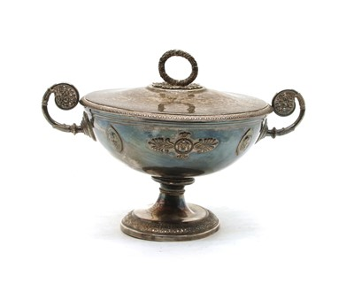 Lot 38A - A French silver two handled comport by Flamand