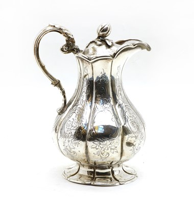Lot 45 - An early Victorian silver hot water jug
