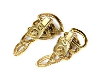 Lot 73 - A pair of 9ct gold clip earrings