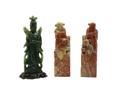 Lot 43 - A jadite figure of a deity