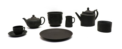 Lot 94 - A collection of 19th century and later Wedgwood black basalt items