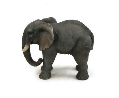Lot 38 - A fibre glass model of an elephant