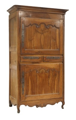 Lot 54 - A French fruitwood cupboard