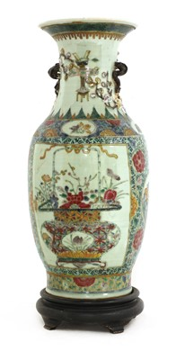 Lot 24 - A Chinese famille rose vase