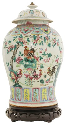Lot 25 - A Chinese famille rose vase and cover