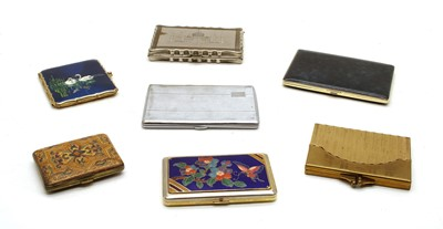 Lot 83A - A collection of mixed metalware cigarette cases