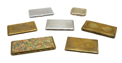 Lot 24 - A collection of mixed metalware cigarette cases