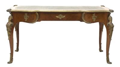 Lot 39 - A good mahogany bureau plat