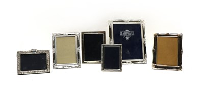 Lot 17 - A collection of six silver and silver plated photograph frames