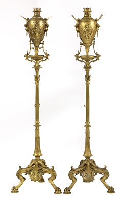 Lot 35 - A pair of French Napoleon III Greek Revival gilt-bronze torchères