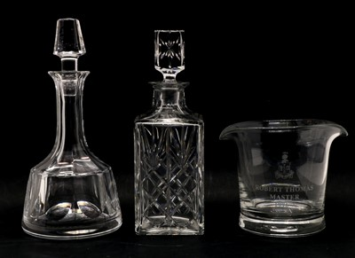 Lot 89 - A facet cut glass decanter