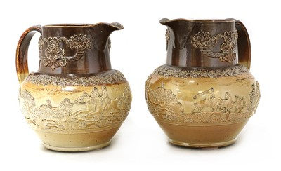 Lot 89 - A pair of large stoneware jugs