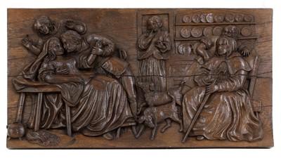 Lot 62 - A Black Forest carved oak panel